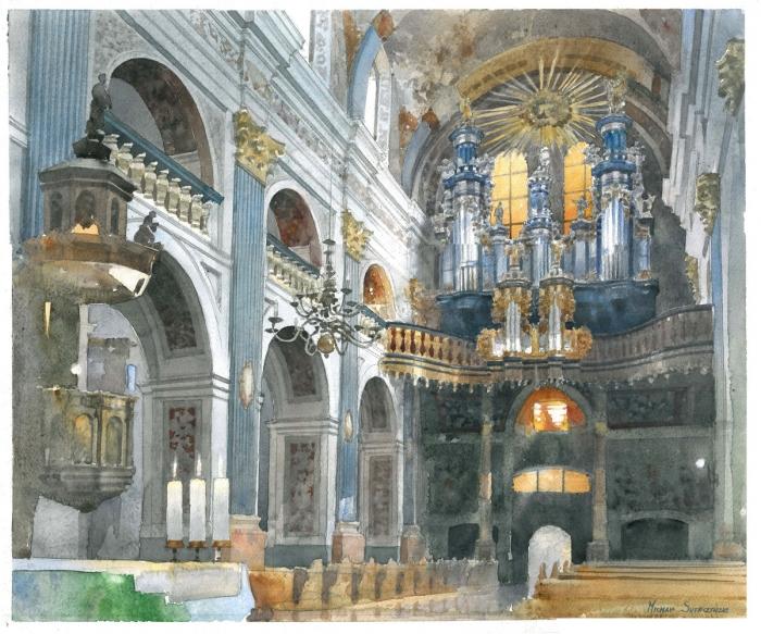 watercolour by artist Michal Suffczynski