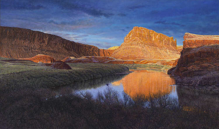painting by R.Geoffrey Blackburn