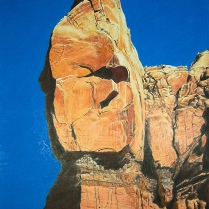 Chaco Canyon Landscape II ‐ Colored Pencil ‐ Paper ‐ 21 x 14