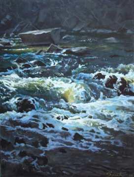 Rushing Water - Acrylic on canvas