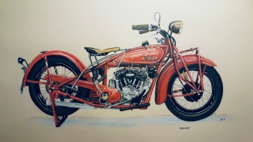 Vintage Bike - acrylic